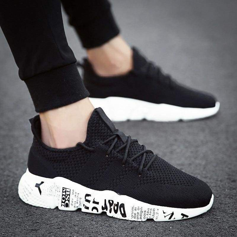 Casual Shoes Breathable Fashion Sneakers - Black / 10 - Mens Casual Shoes