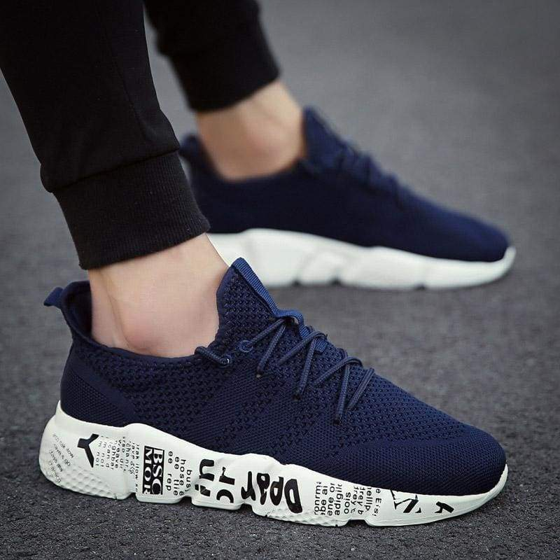 Casual Shoes Breathable Fashion Sneakers - Blue / 10 - Mens Casual Shoes
