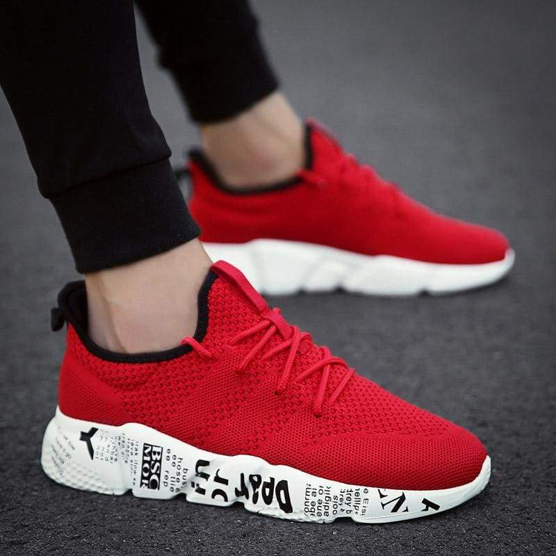 Casual Shoes Breathable Fashion Sneakers - Red / 10 - Mens Casual Shoes