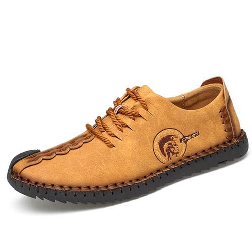 Casual Shoes Loafers Men Shoes - Yellow 02 / 6.5 - Leather Shoes