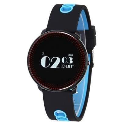 CF007 smart bracelet - Black And Blue - Smart Wristbands