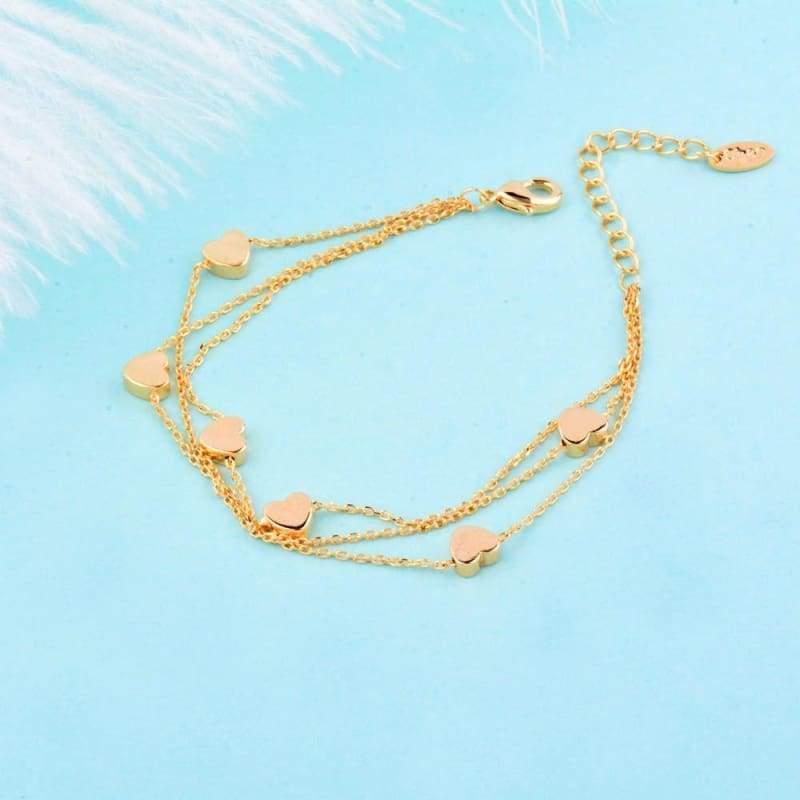 Charm Star 3 Layer Chain Bracelet - Chain & Link Bracelets