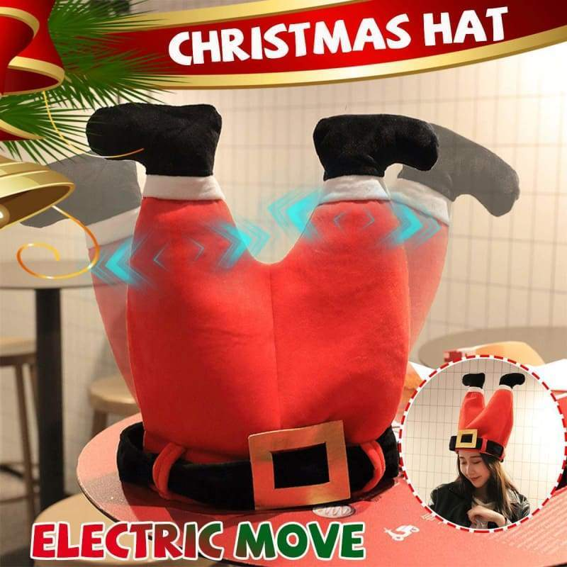 Christmas Santa Claus Hat Electric Moving Pants Just For You - Christmas Decoration