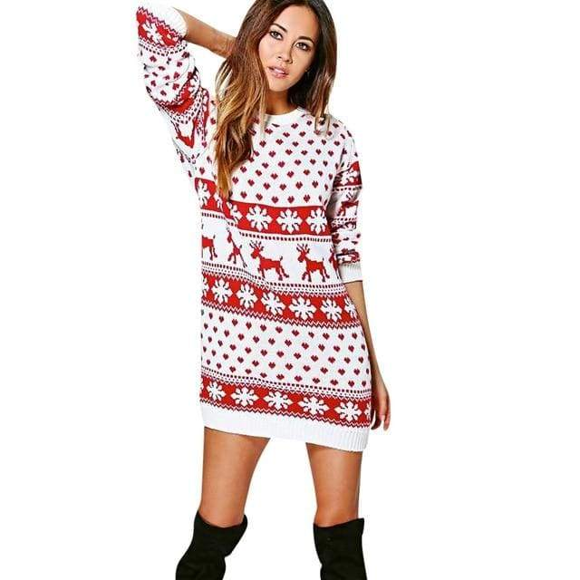 Christmas Winter Ladies Warm Brief Sweaters - A / S - Christmas Dresses