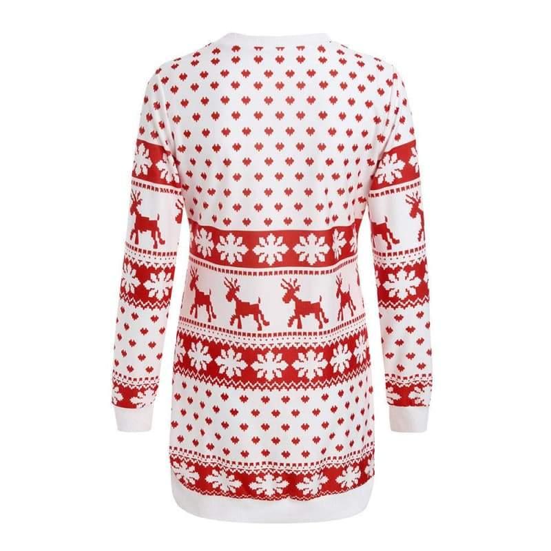 Christmas Winter Ladies Warm Brief Sweaters - Christmas Dresses