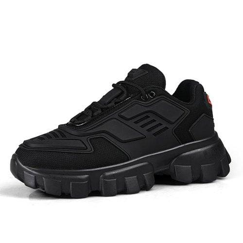 Chunky Trainers Footwear Breathable Shoes - black / 35 - Casual Shoes