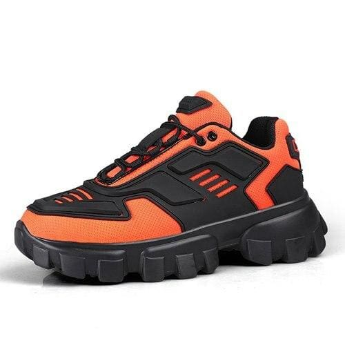 Chunky Trainers Footwear Breathable Shoes - orange / 35 - Casual Shoes