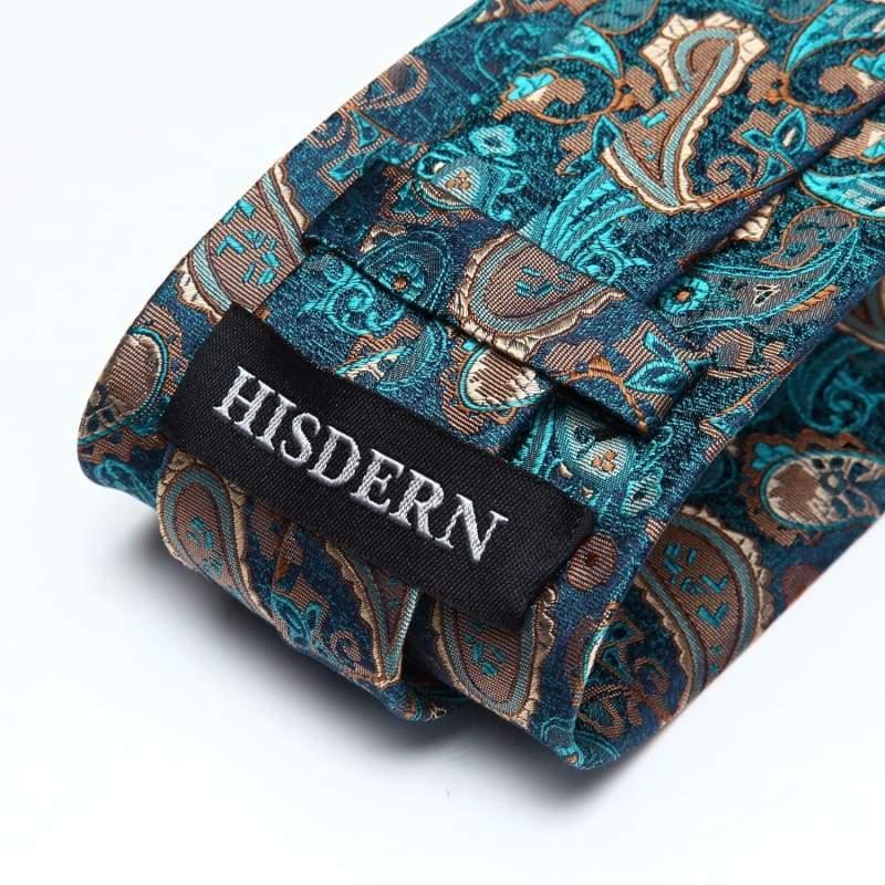 Classic woven silk necktie set - Mens Ties & Handkerchiefs