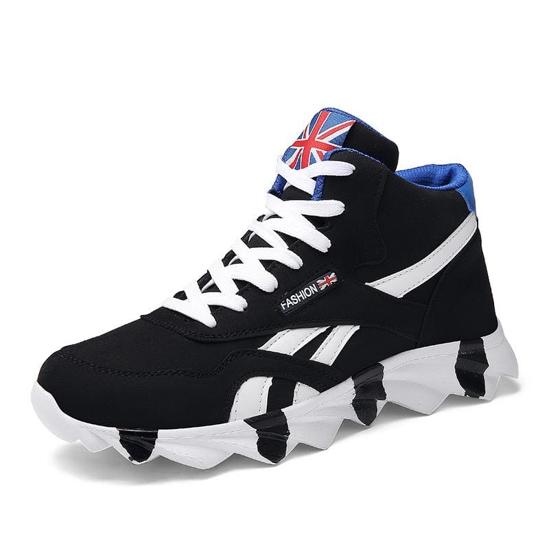 Comfortable Autumn Sneakers Shoes - 8708 Black / 8 - Mens Casual Shoes