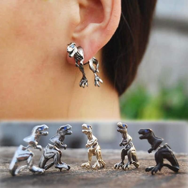 Cool Punk Rock Dinosaur Designs Earrings - Stud Earrings