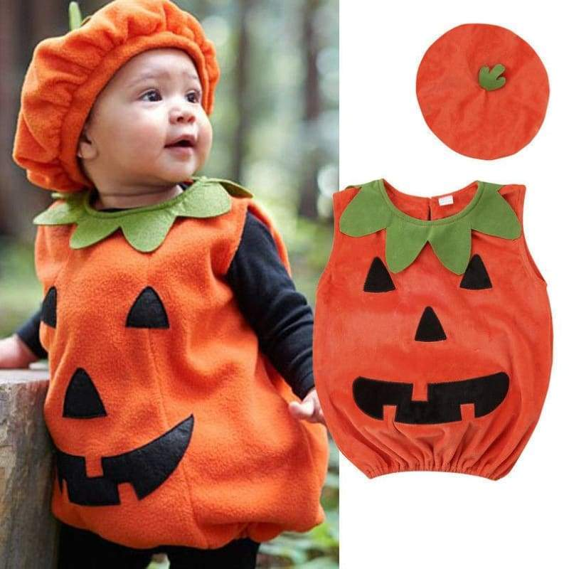 Cosplay Halloween Pumpkin Jumpsuits - 6M - Rompers