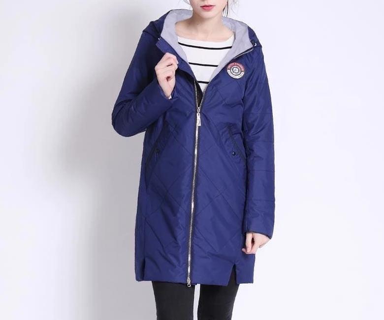 Thin Cotton Parka Women Just For You - dak blue / M - Women Coat