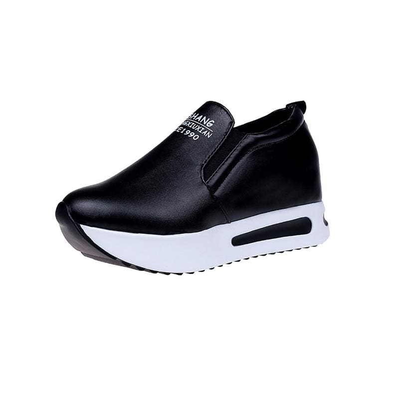 Creepers Spring Increasing Height Shoes - Black / 4 - Womens Pumps