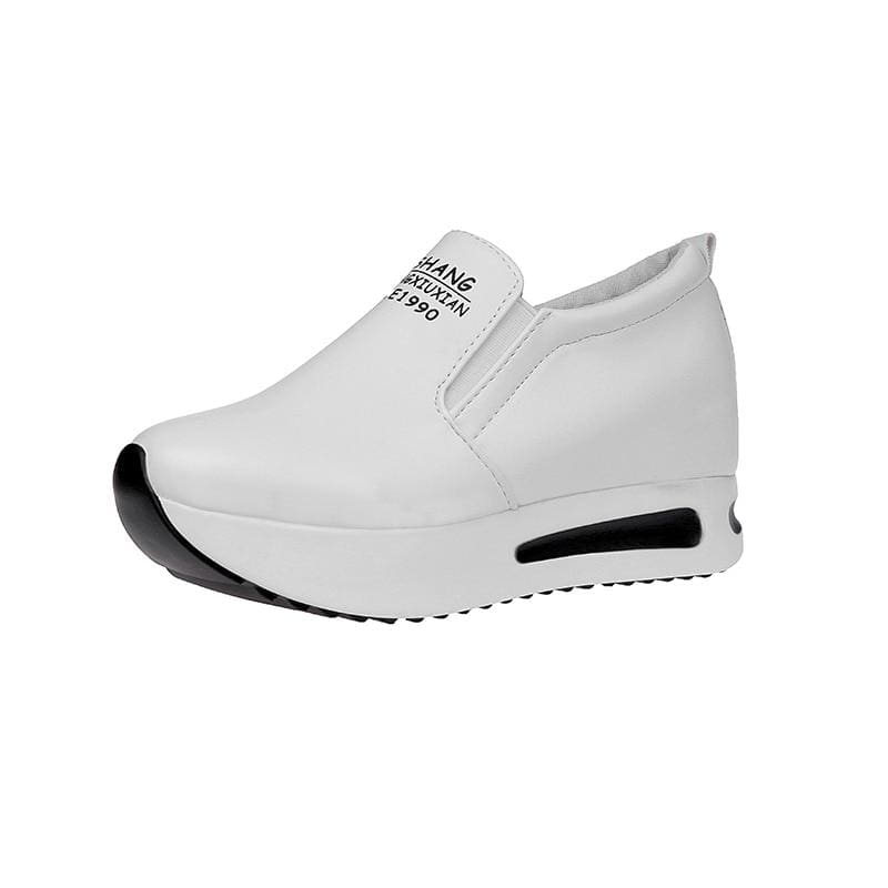 Creepers Spring Increasing Height Shoes - White / 4 - Womens Pumps