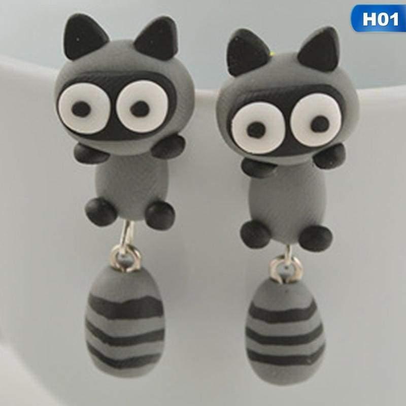 Cute Animal Earrings - H01 - Stud Earrings