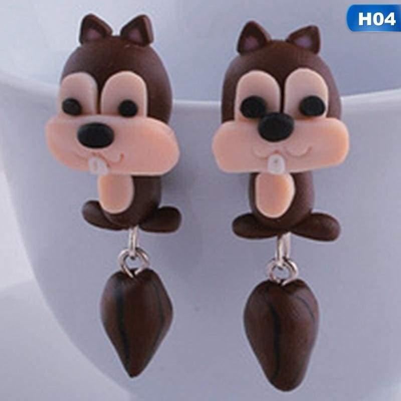 Cute Animal Earrings - H04 - Stud Earrings