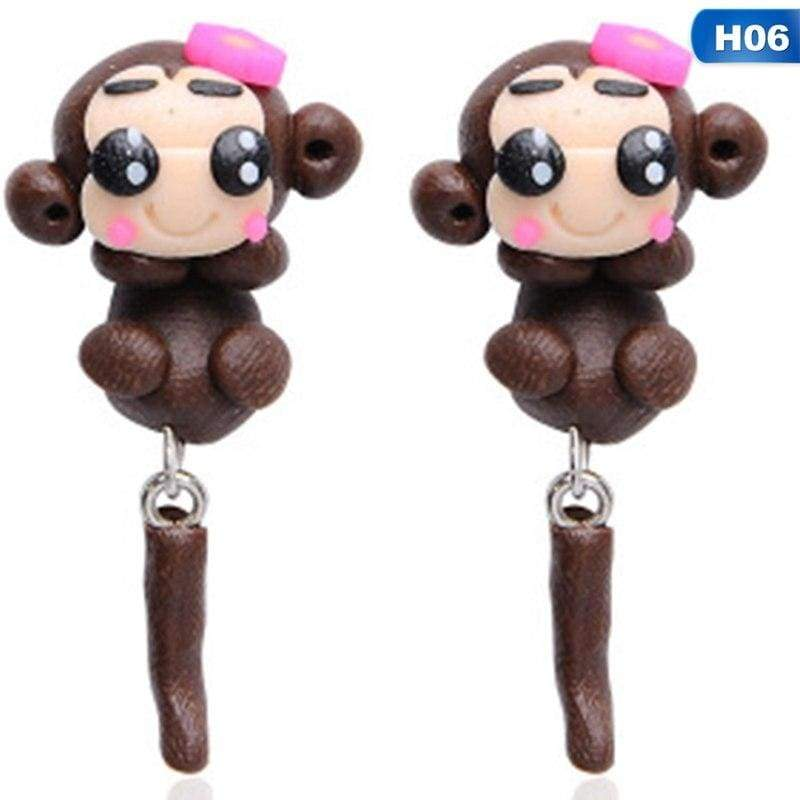 Cute Animal Earrings - H06 - Stud Earrings