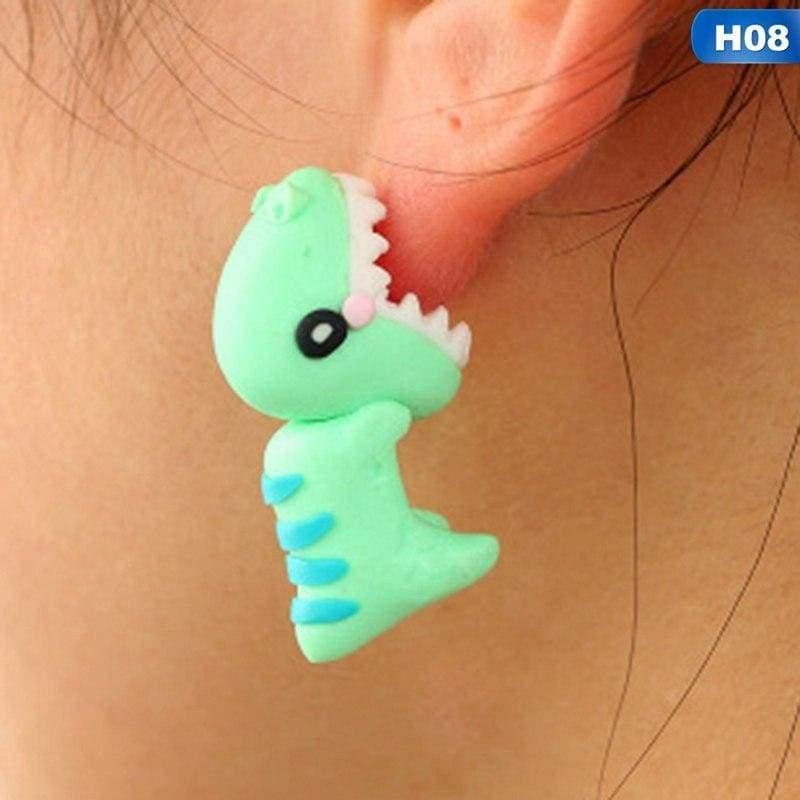 Cute Animal Earrings - H08 - Stud Earrings