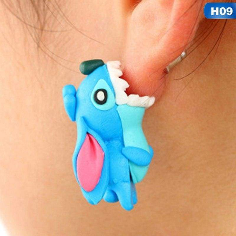 Cute Animal Earrings - H09 - Stud Earrings