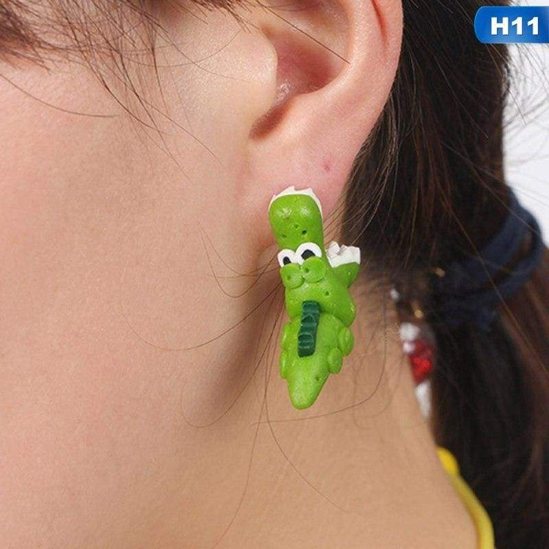 Cute Animal Earrings - H11 - Stud Earrings