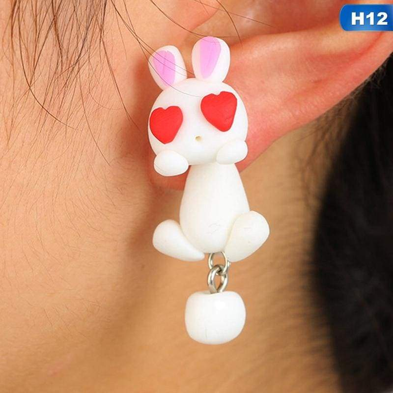 Cute Animal Earrings - H12 - Stud Earrings
