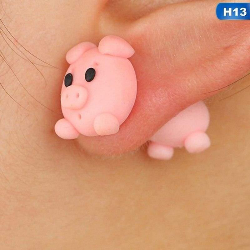 Cute Animal Earrings - H13 - Stud Earrings