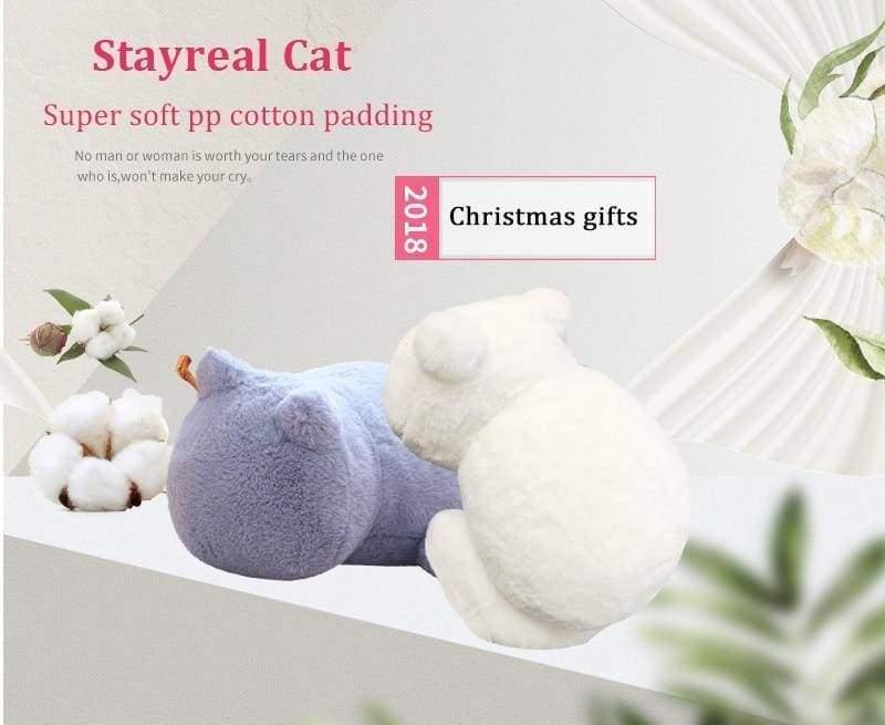 Cute cat fluffy pillow - Cushion