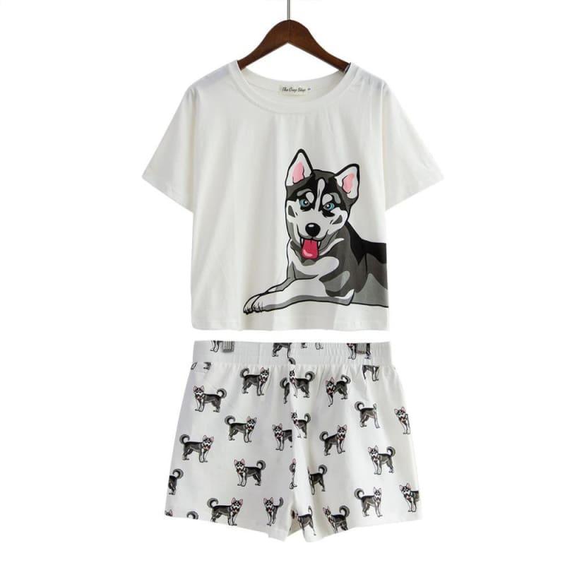 Cute Dachshund Dog Womens Pajama set - Husky set / L - Pajama Sets