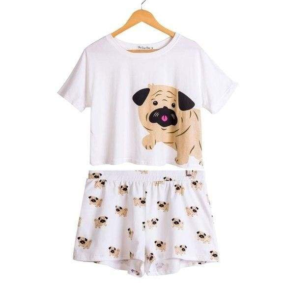 Cute Dachshund Dog Womens Pajama set - Pug set / L - Pajama Sets