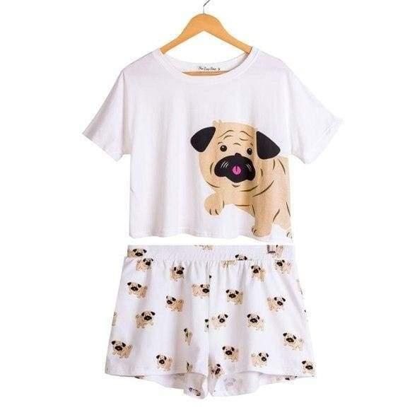Cute Dachshund Dog Womens Pajama set - Pug set / L - Pajama Sets