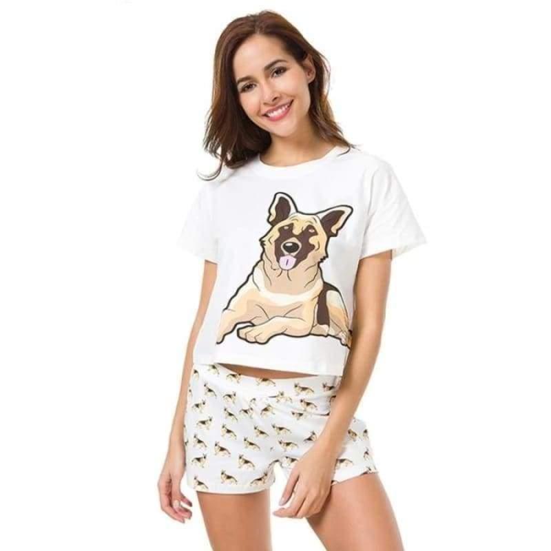 Cute Dachshund Dog Womens Pajama set - Pajama Sets