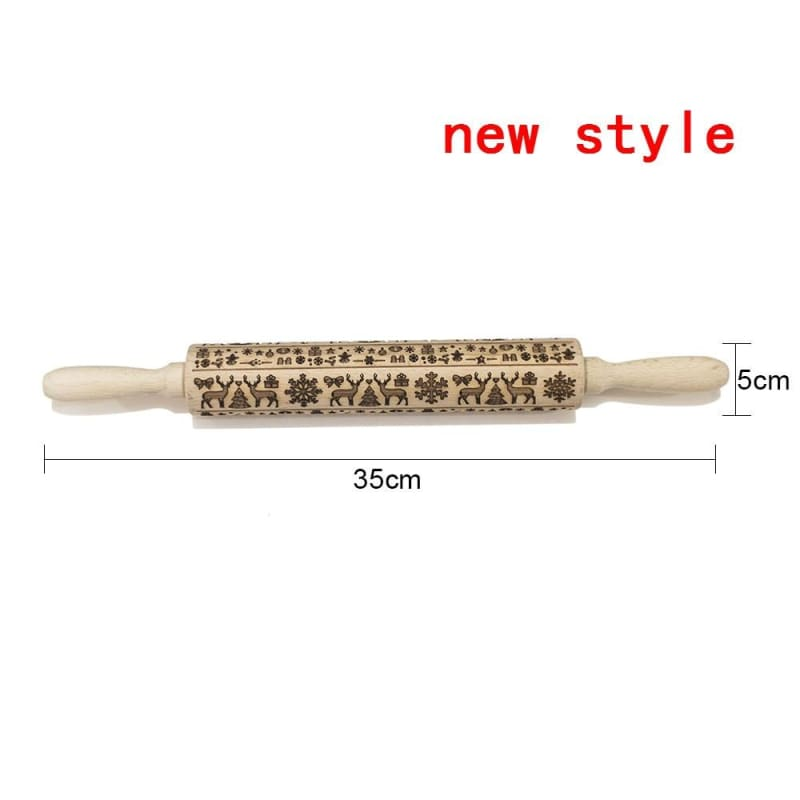 Decorative Rolling Pins Just For You - christmas embossing rolling pin