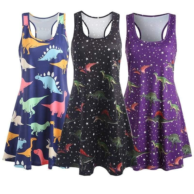 Dinosaur Swing Tank Dress - Home