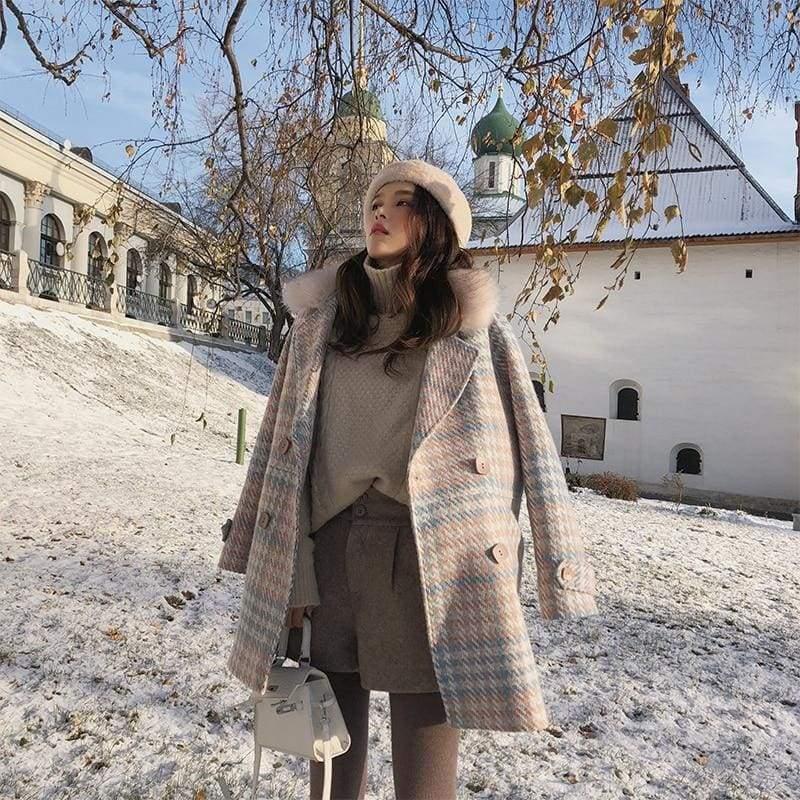 Double Breasted Woolen Coat Just For You - Woolen Coat