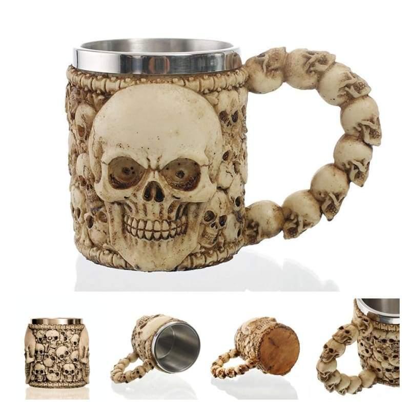 Retro Dragon Mug Skull - Ancient Cemetery - Mugs