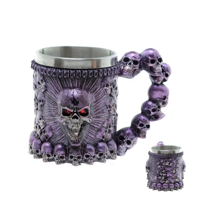Retro Dragon Mug Skull - Blue Monster - Mugs