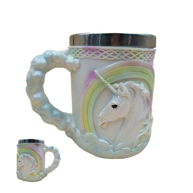 Retro Dragon Mug Skull - Bright Unicorn - Mugs