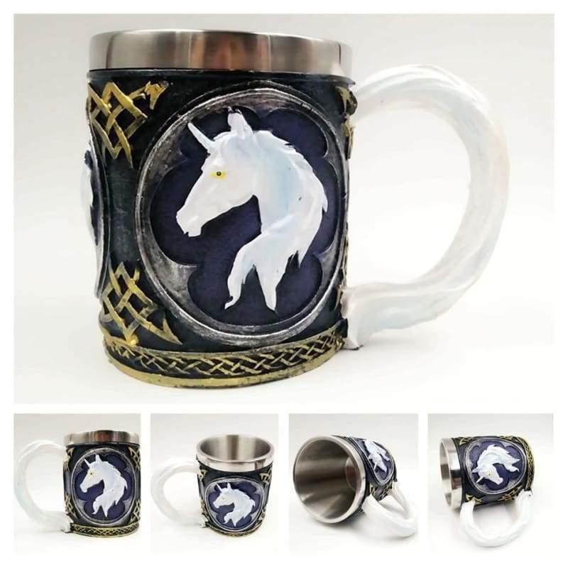 Retro Dragon Mug Skull - Dark Unicorn - Mugs