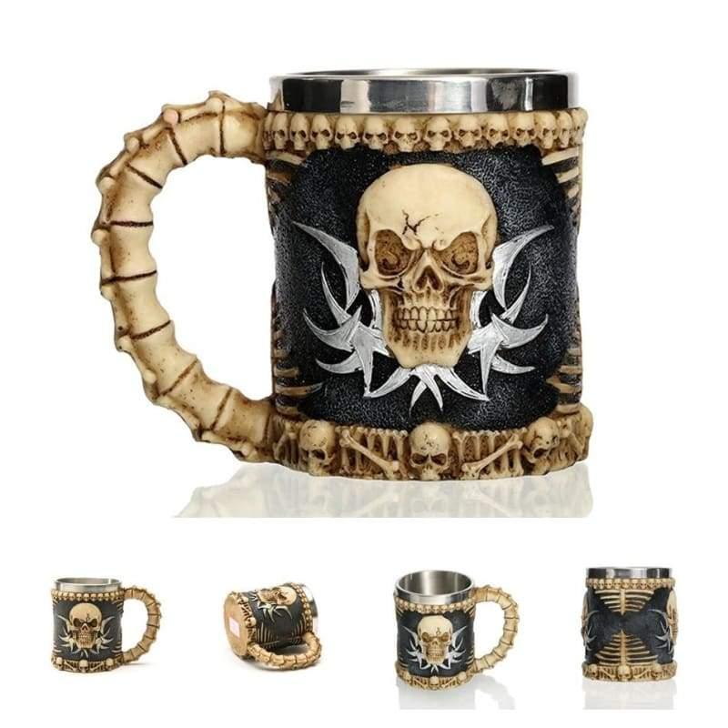 Retro Dragon Mug Skull - Devil - Mugs