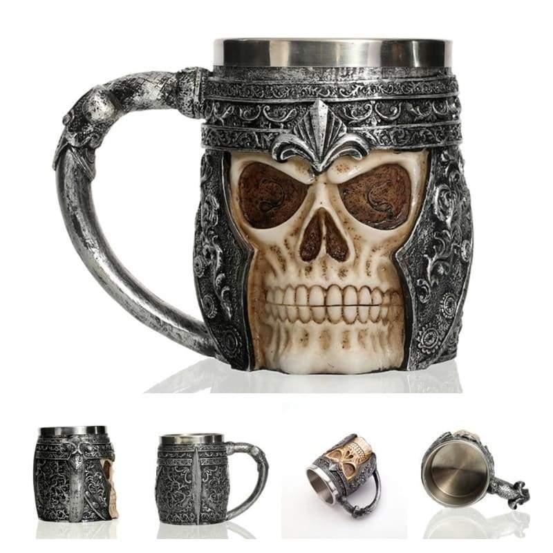 Retro Dragon Mug Skull - Hell Knight - Mugs