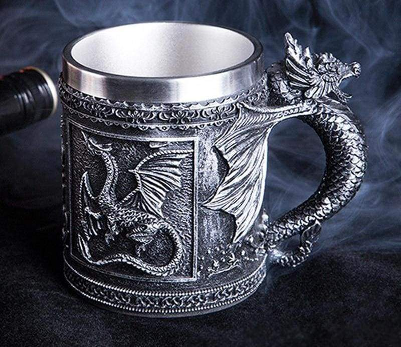 Retro Dragon Mug Skull - Mugs