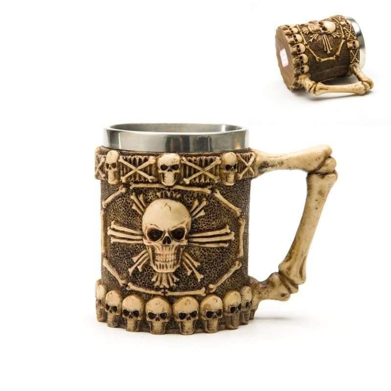 Retro Dragon Mug Skull - Pirate - Mugs