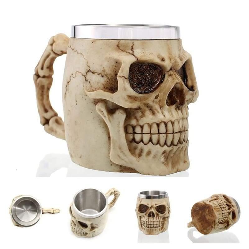 Retro Dragon Mug Skull - Skull King - Mugs