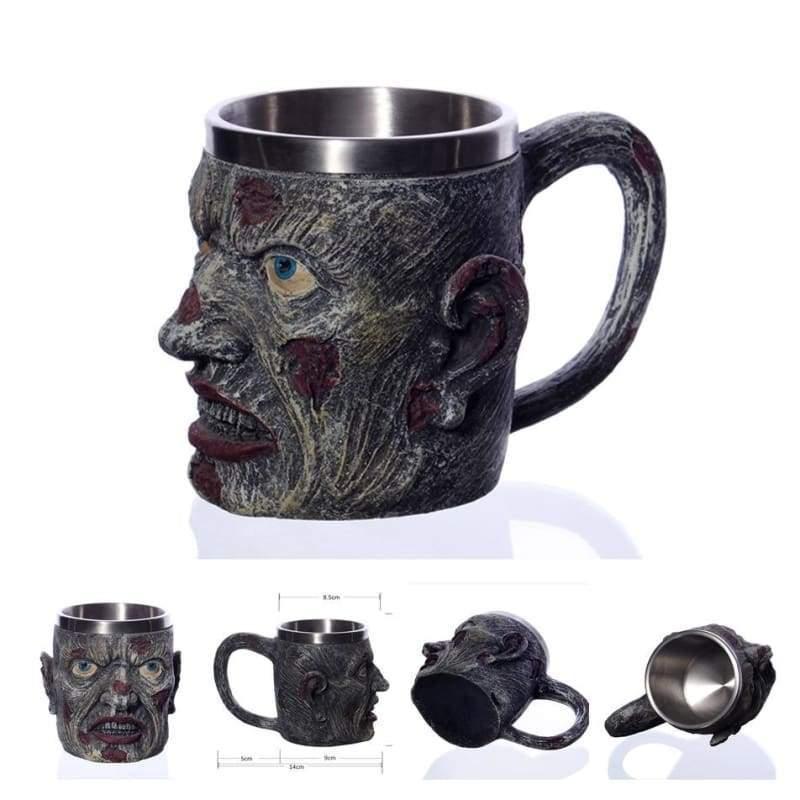 Retro Dragon Mug Skull - Zombie - Mugs