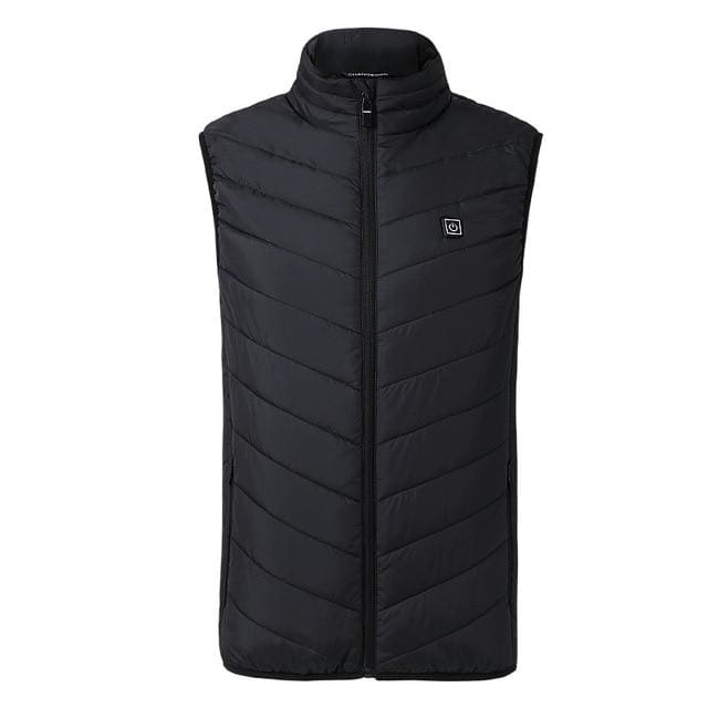Electric Heated Jacket Vest Mens & Womens - Black vest / M - Heated Vest1
