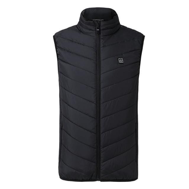 Electric Heated Jacket Vest Mens & Womens - Black vest / M - Heated Vest1