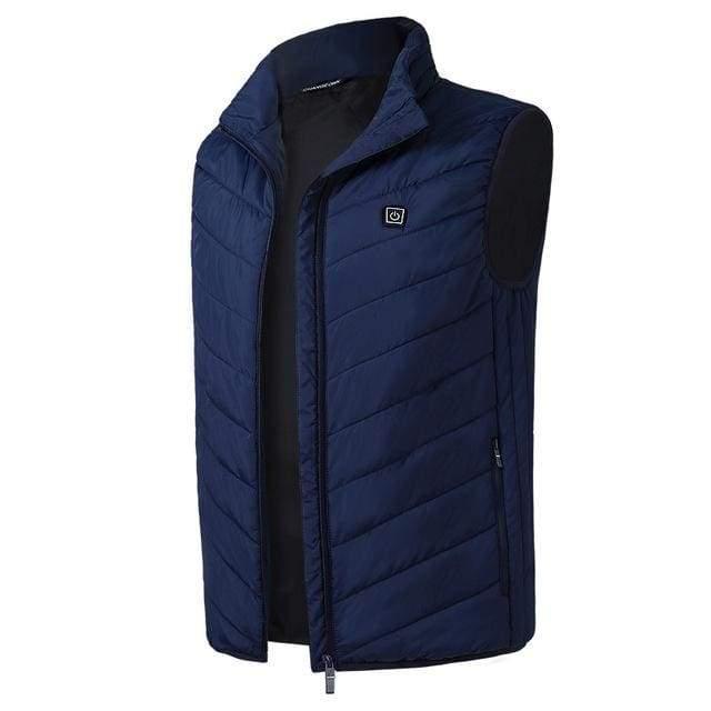 Electric Heated Jacket Vest Mens & Womens - Blue vest / M - Heated Vest1