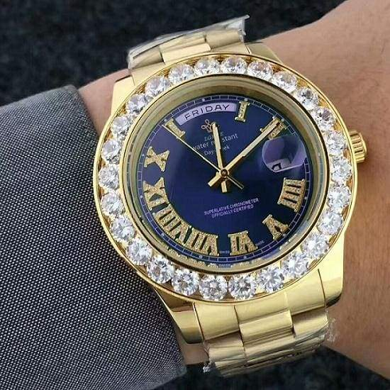 Face diamond watch Just For You - Blue 4 - Quartz Watches