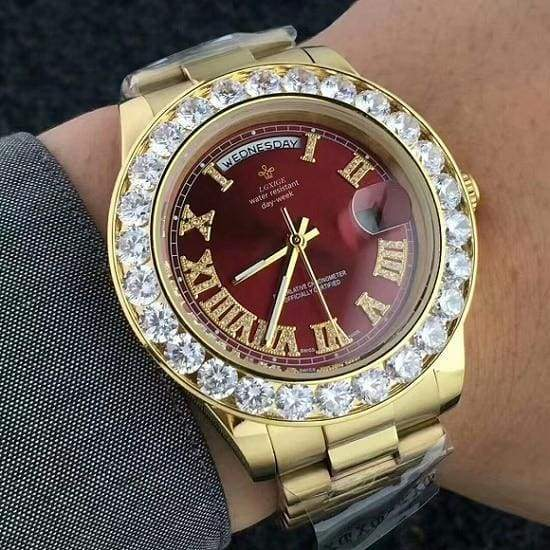 Face diamond watch Just For You - GoldRed 5 - Quartz Watches