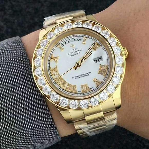 Face diamond watch Just For You - GoldWhite 6 - Quartz Watches